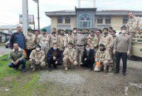 ضدعفونی تمام معابر روستای آهندان توسط پاسداران تیپ میرزاکوچک خان لنگرود